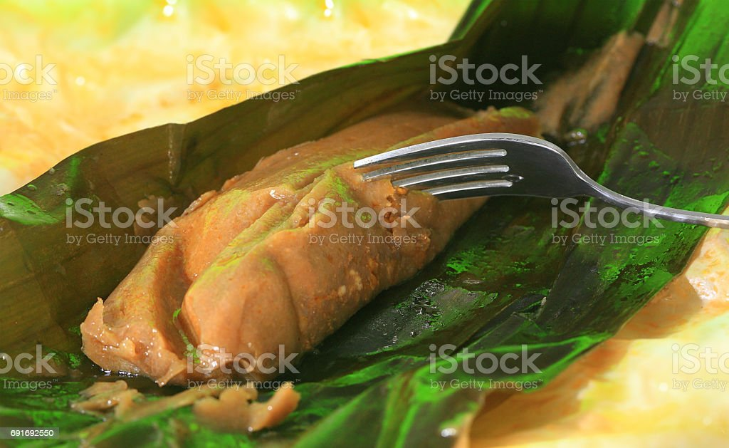 Puerto Rican Pasteles Close View Stock Photo Download Image Now