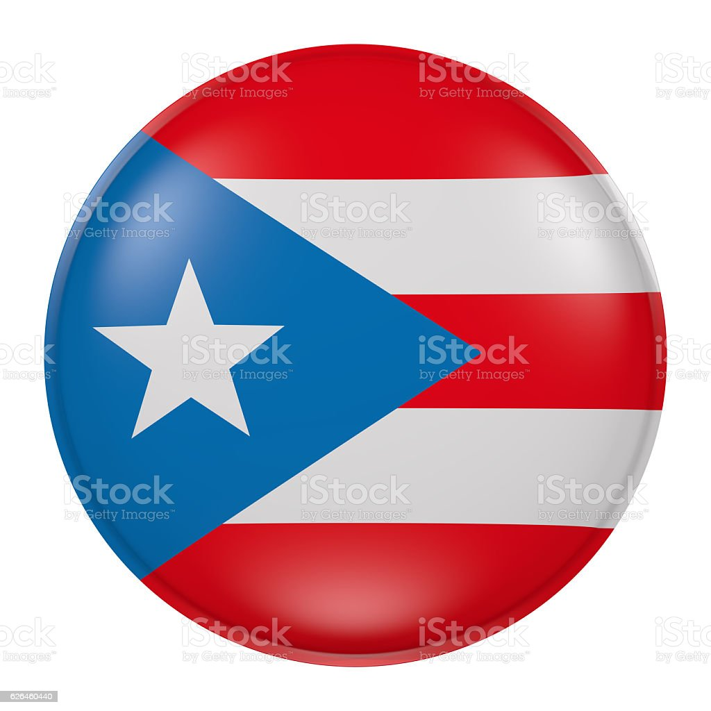 Puerto Rico button - foto de stock