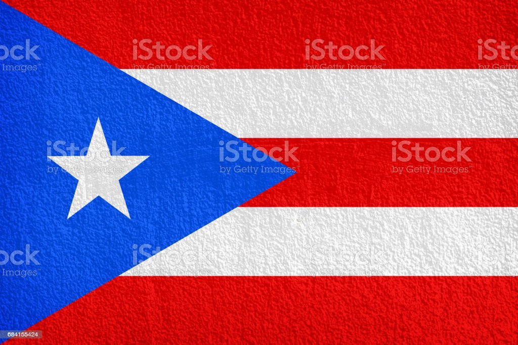 Puerto Rico Flag painted on grunge wall royaltyfri bildbanksbilder
