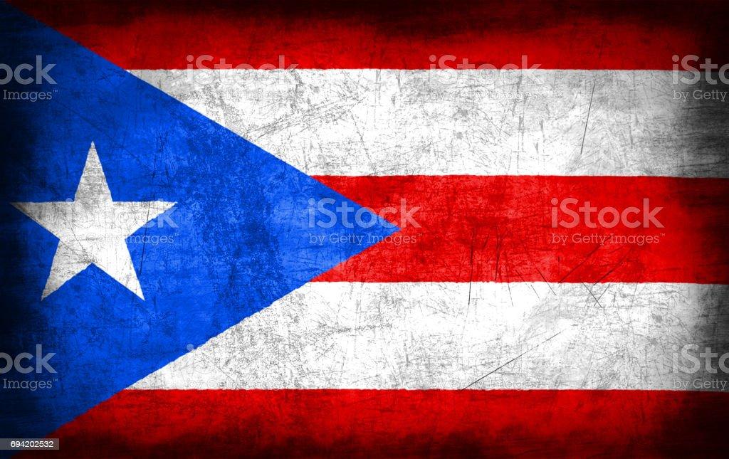 Bandera de Puerto Rico con textura metal grunge - foto de stock