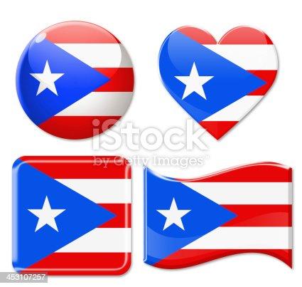 istock Puerto Rico Flags & Icon Set 453107257
