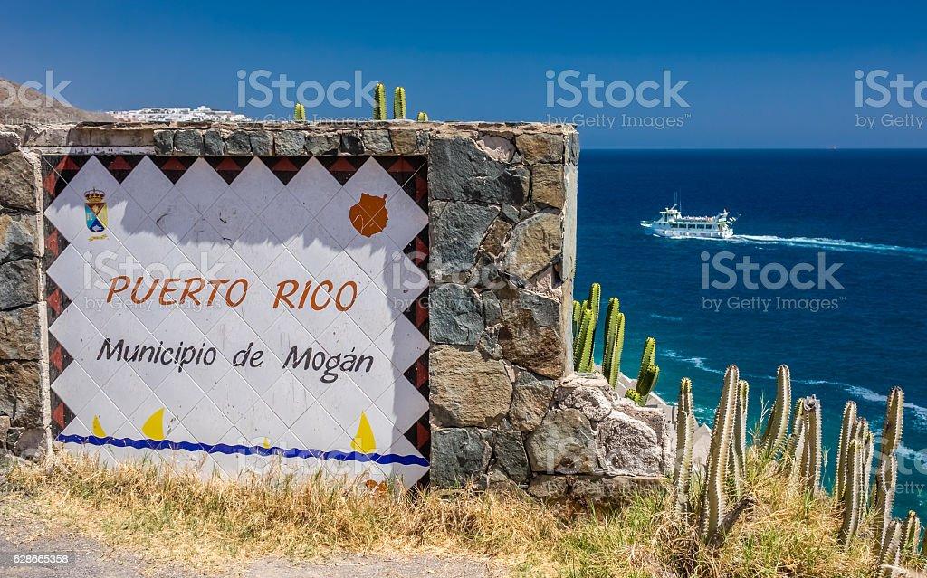 Puerto Rico town stock photo