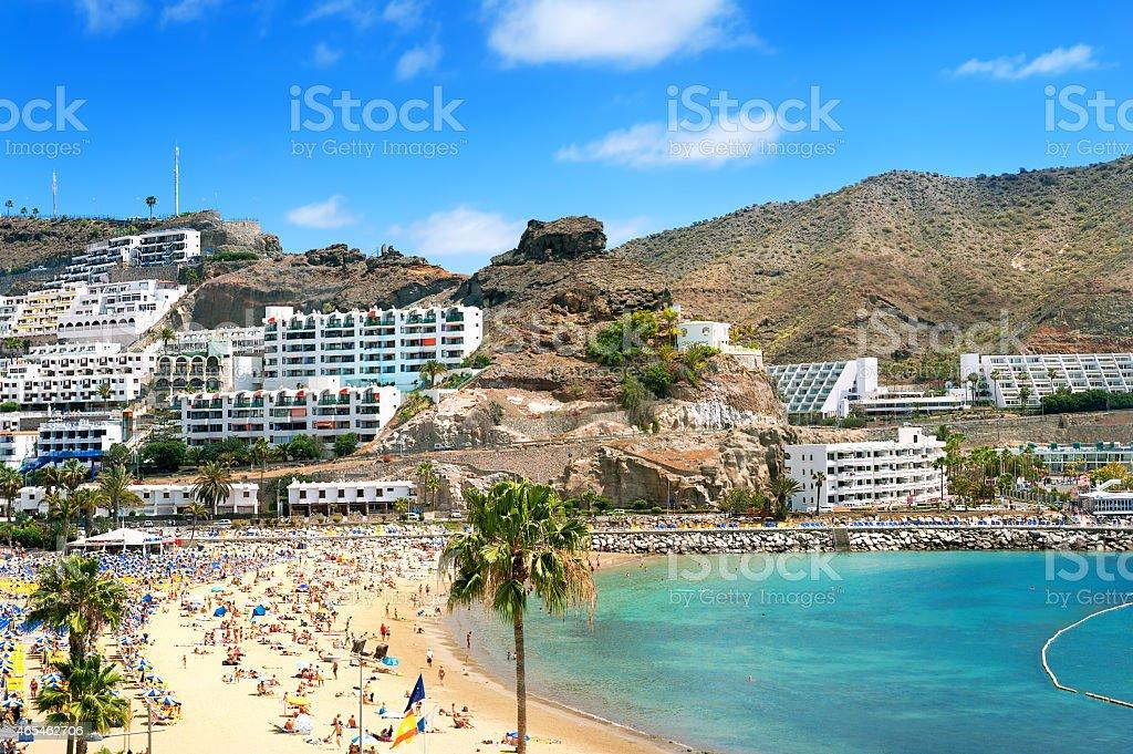 Puerto Rico's beach stock photo