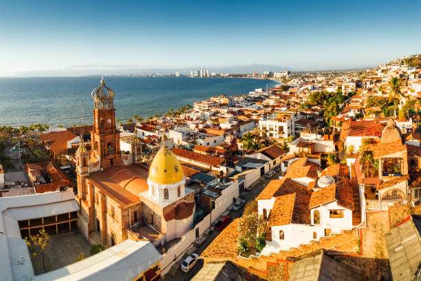puerto vallarta mexico - landmarks stock photos and pictures