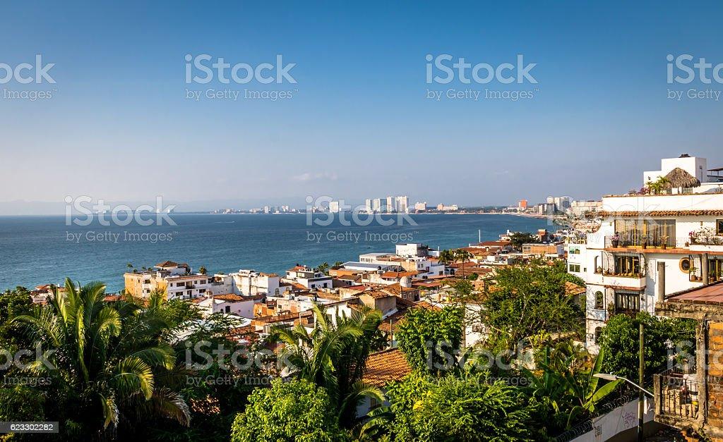 Puerto Vallarta sea and downtown view - Jalisco, Mexico stock photo