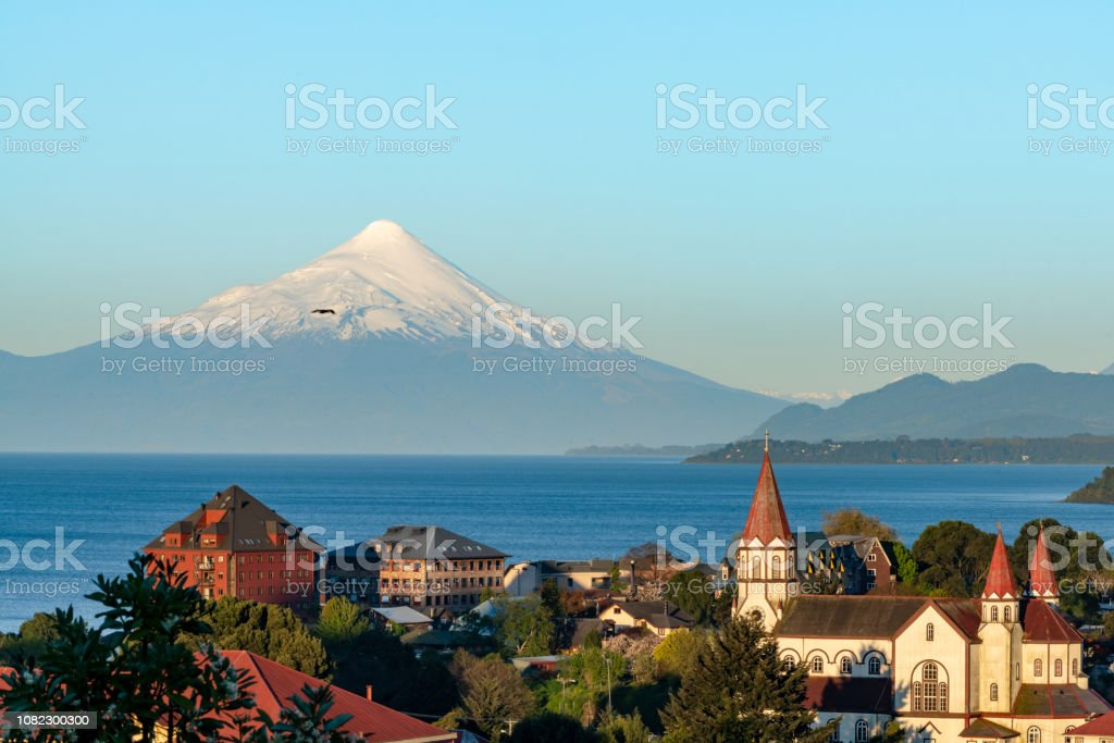 Puerto Varas at Dusk stock photo