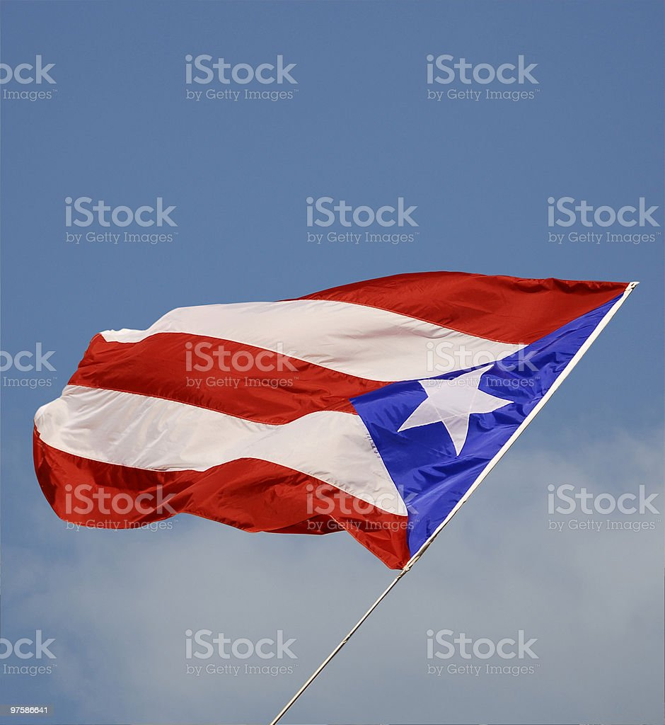 puertorican flag royalty-free stock photo