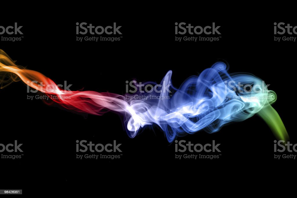Puff of colorful Abstract fume royalty-free stock photo