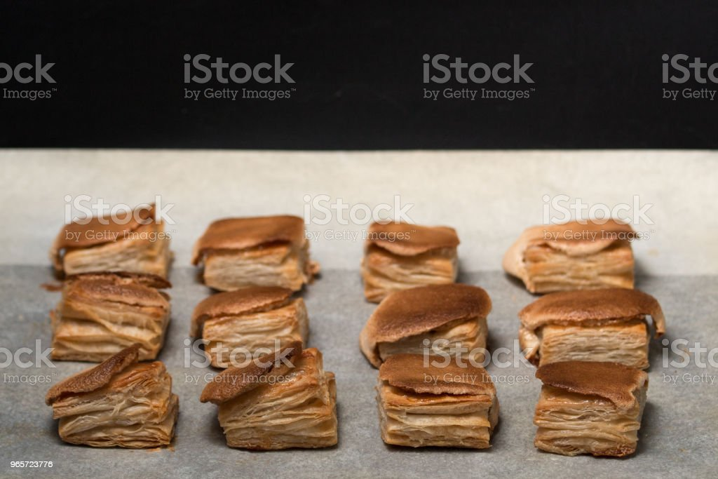 Puff pastry keyboard - Royalty-free Baked Stock Photo