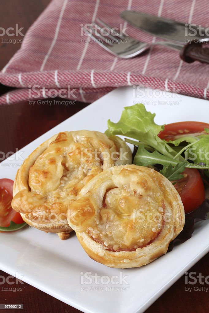 Puff pastry nests royalty-free stock photo