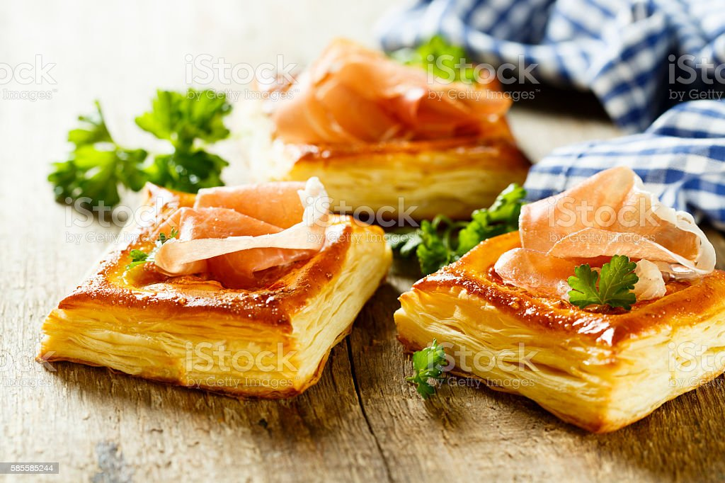 Puff pastry pies stock photo