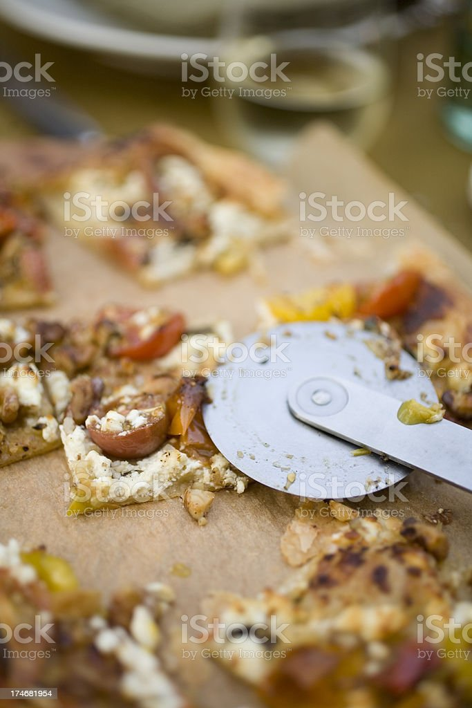 Puff pastry pizza stock photo
