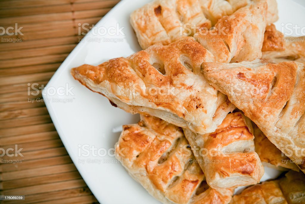 Puff pastry with apples and raisins royalty-free stock photo