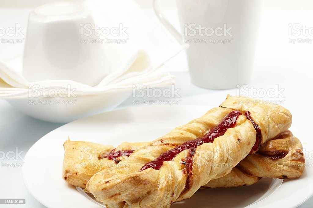 puff pastry with jam royalty-free stock photo