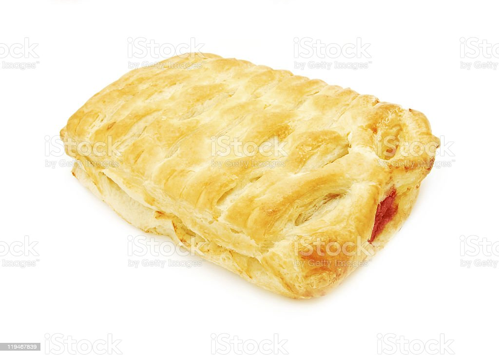 puff pastry with sour cherry stock photo