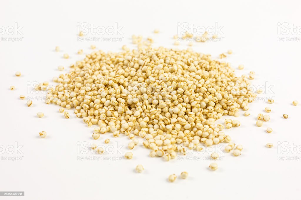 puffed quinoa seeds royalty-free stock photo