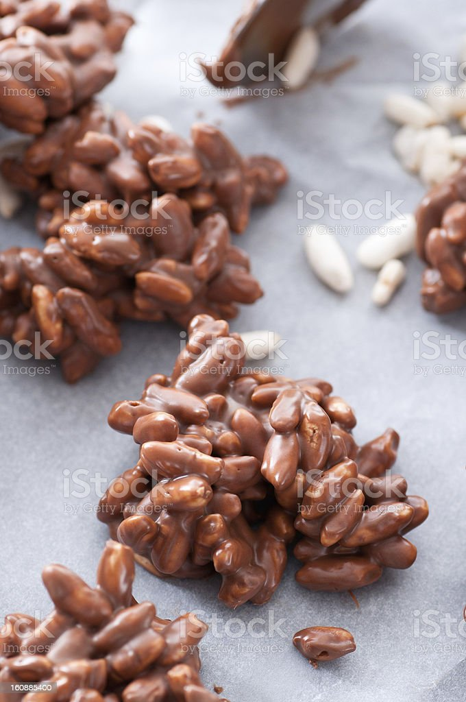Puffed Rice Chocolate bildbanksfoto