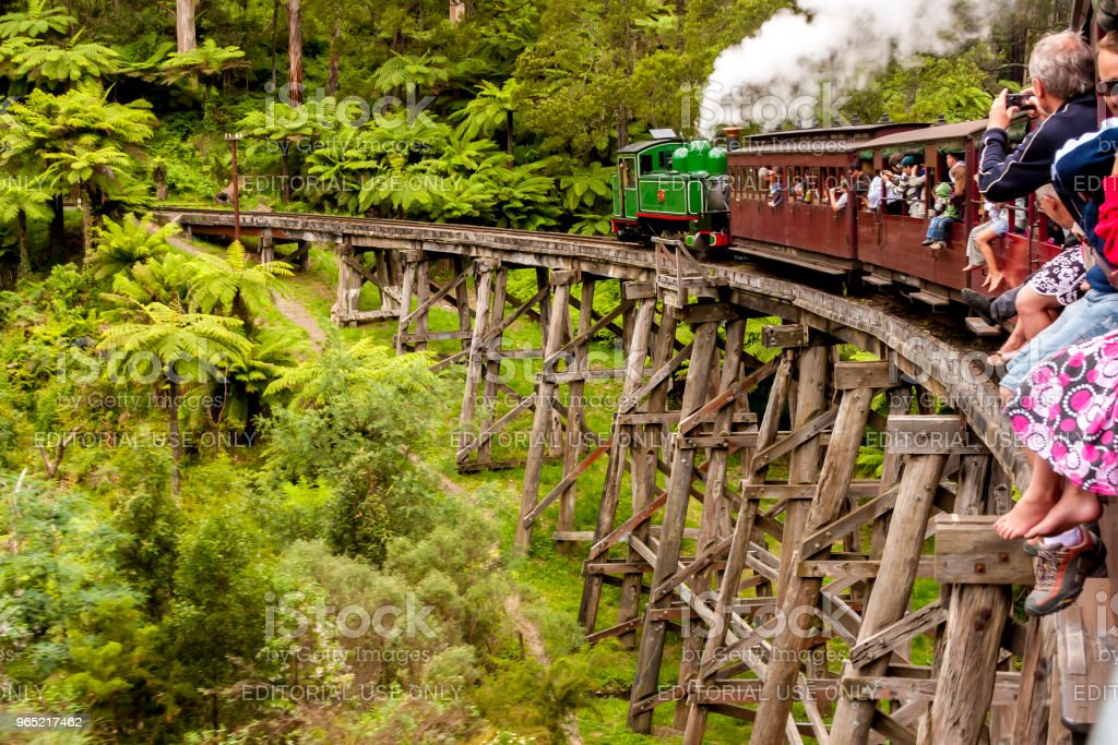 Puffing Billy steam train. Melbourne, Australia royalty-free stock photo