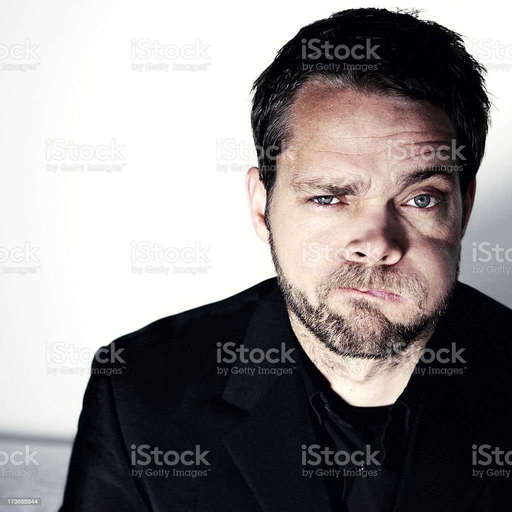 puffing business man royalty-free stock photo