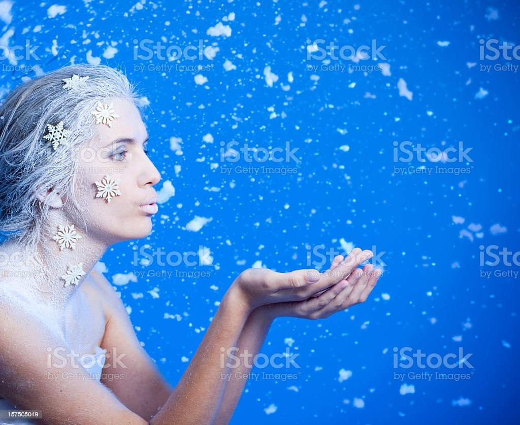 Puffs of Snow royalty-free stock photo