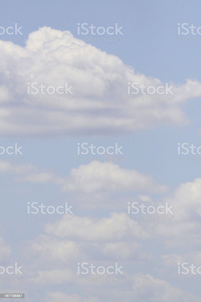 Puffy Clouds stock photo
