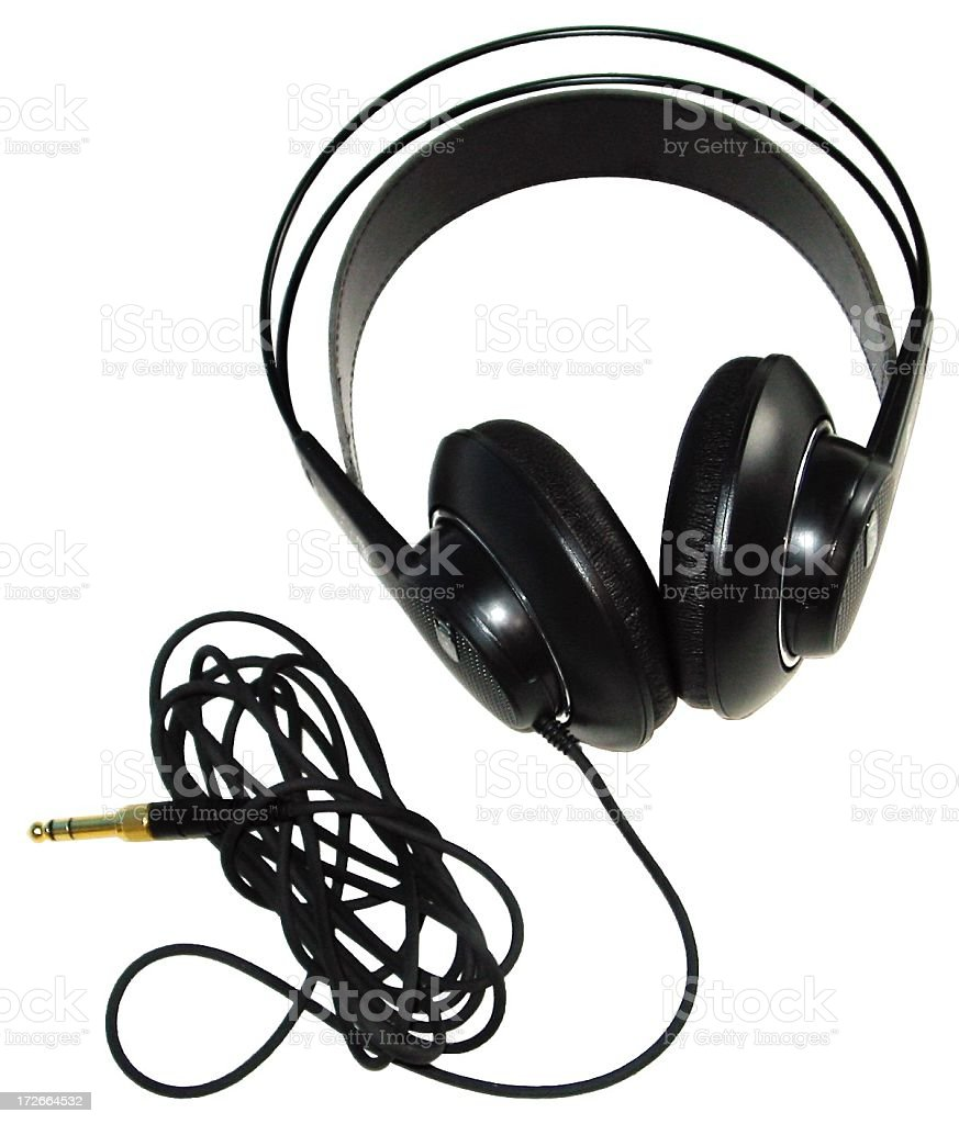 puffy headphones stock photo