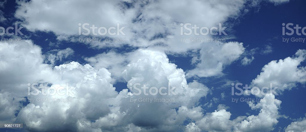 Puffy White Clouds royalty-free stock photo