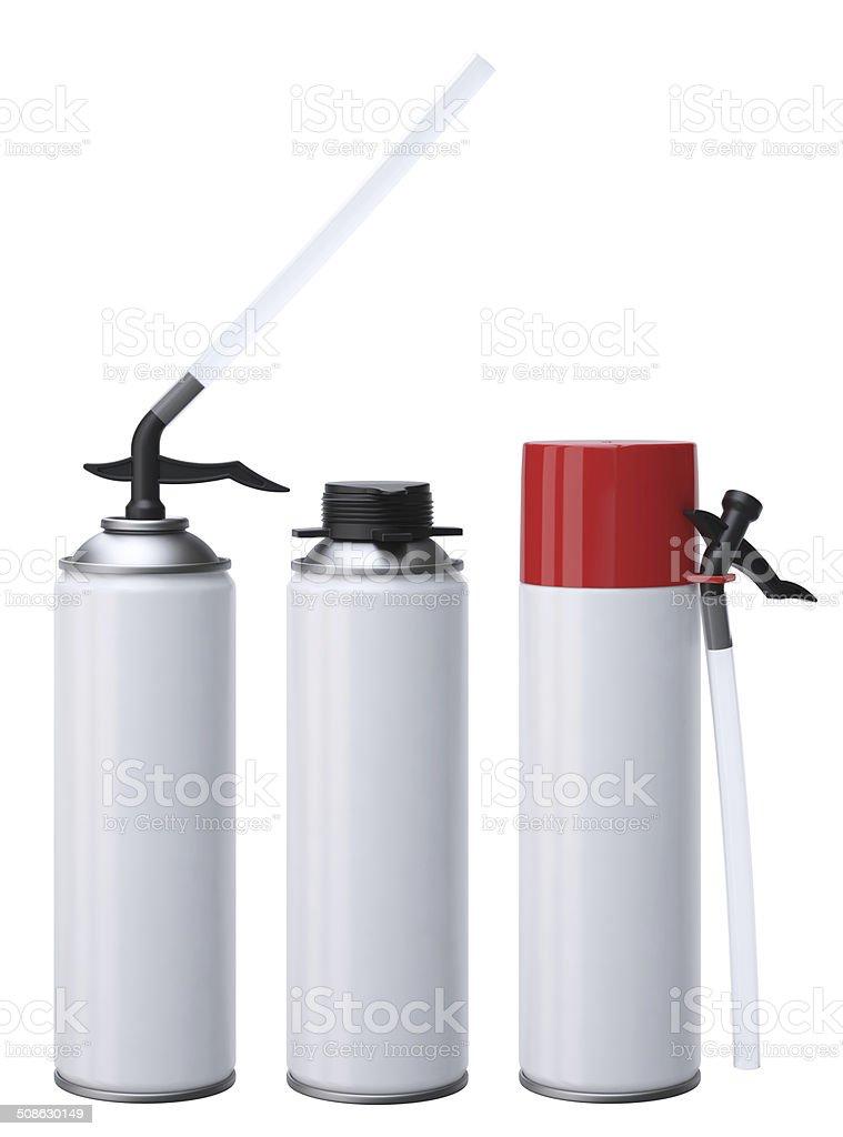 PU-Foam tubes stock photo