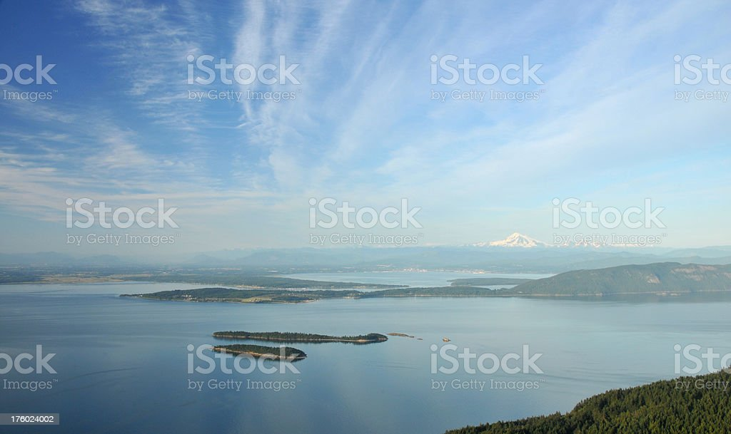 Puget Sound and Mt. Baker royalty-free stock photo