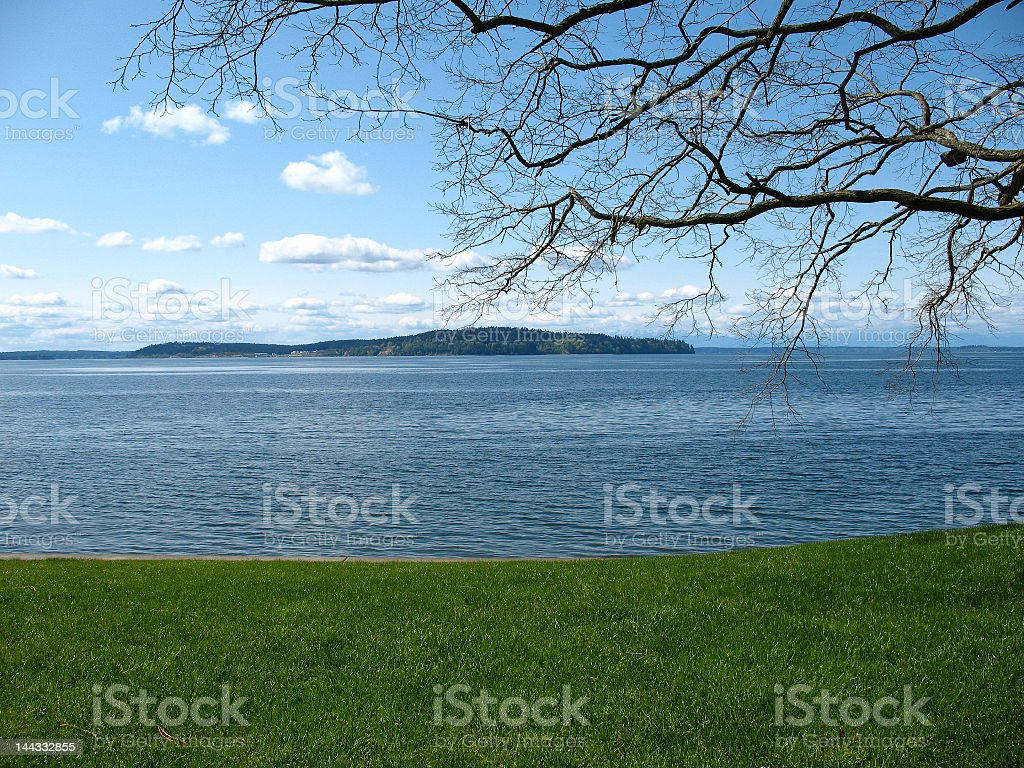 Puget Sound from Steilacoom royalty-free stock photo