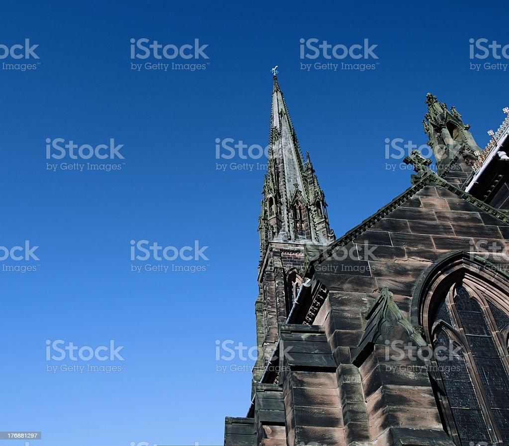 Pugin's Gem - St Giles Church, Cheadle Staffordshire stock photo