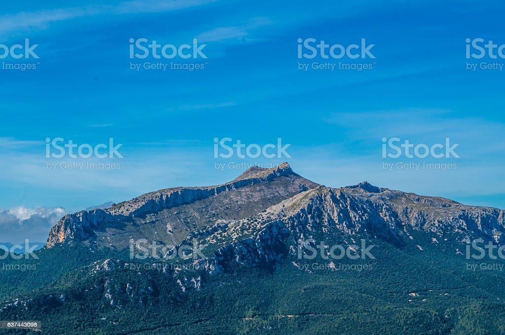 Puig de Massanella in Tramuntana mountains, GR 221, Mallorca, Spain stock photo