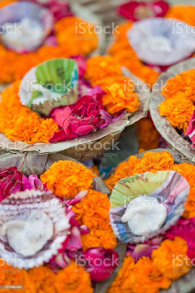 Puja In Varanasi, India royalty-free stock photo