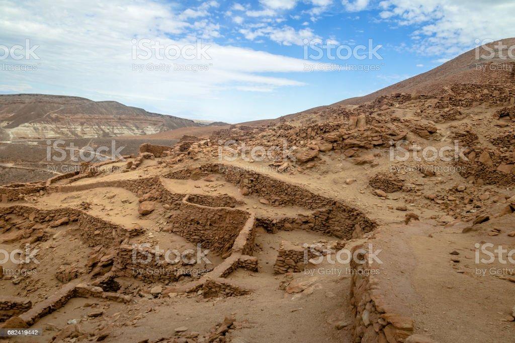 Pukara de Quitor Fortress Ruins - Atacama Desert, Chile royalty-free stock photo