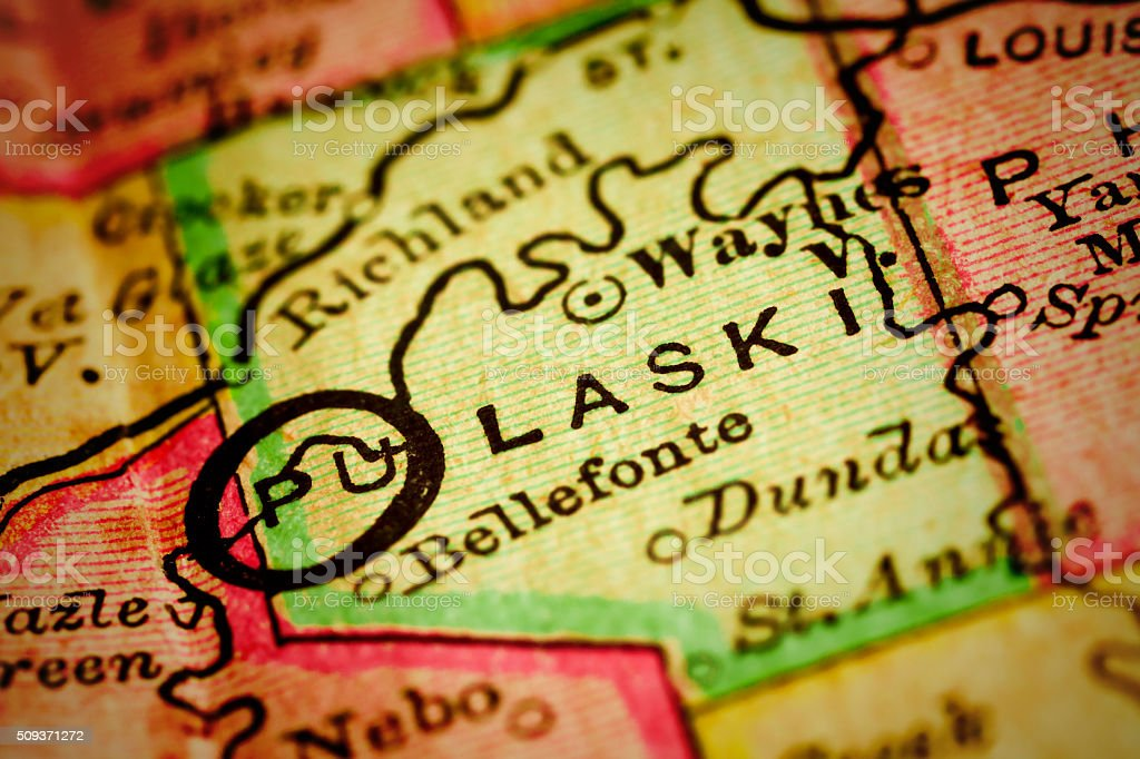 Pulaski | Missouri County maps stock photo