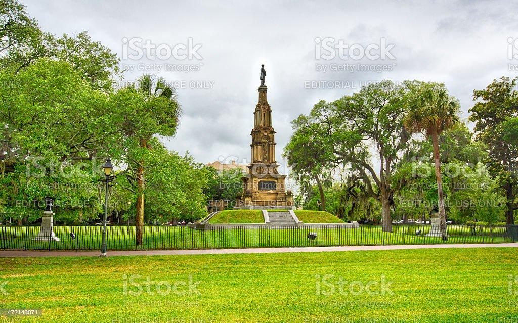Pulaski Monument stock photo