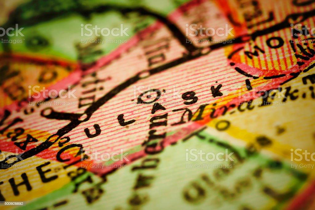 Pulaski | Virginia County Maps stock photo