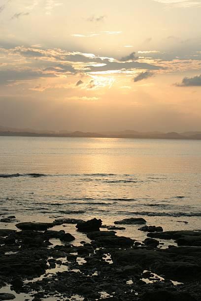 Pulau Kapas Sunset stock photo