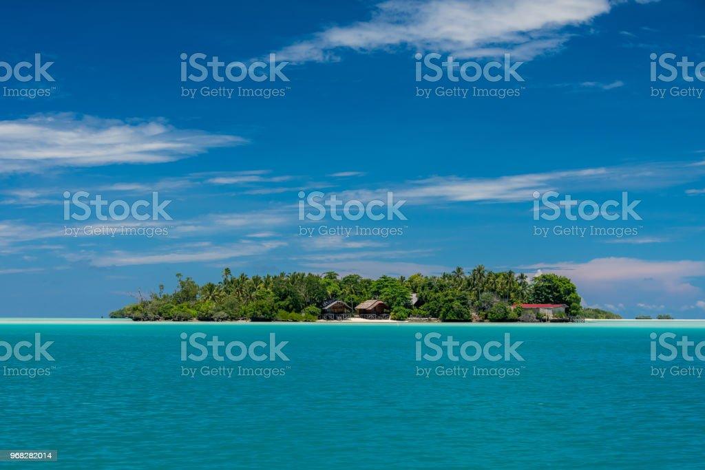 pulau Maratua pristine island stock photo