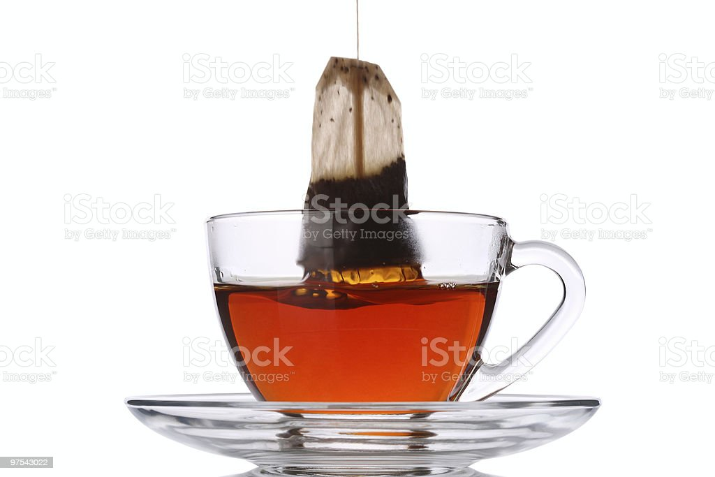 Pull out the Tea Bag royalty-free stock photo