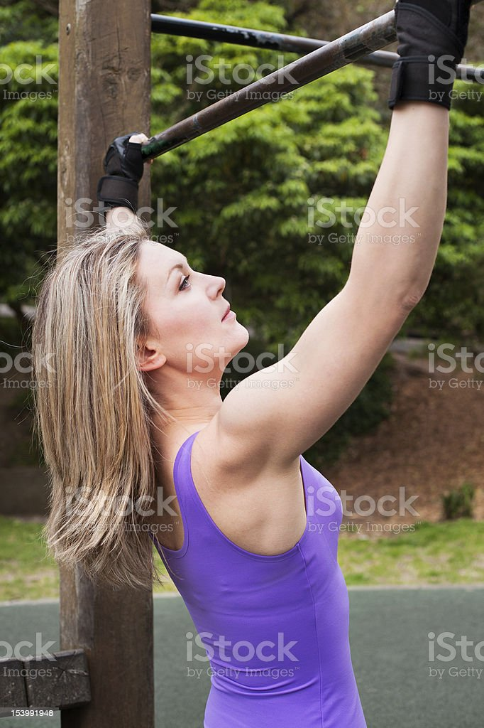 Pull up for women royalty-free stock photo
