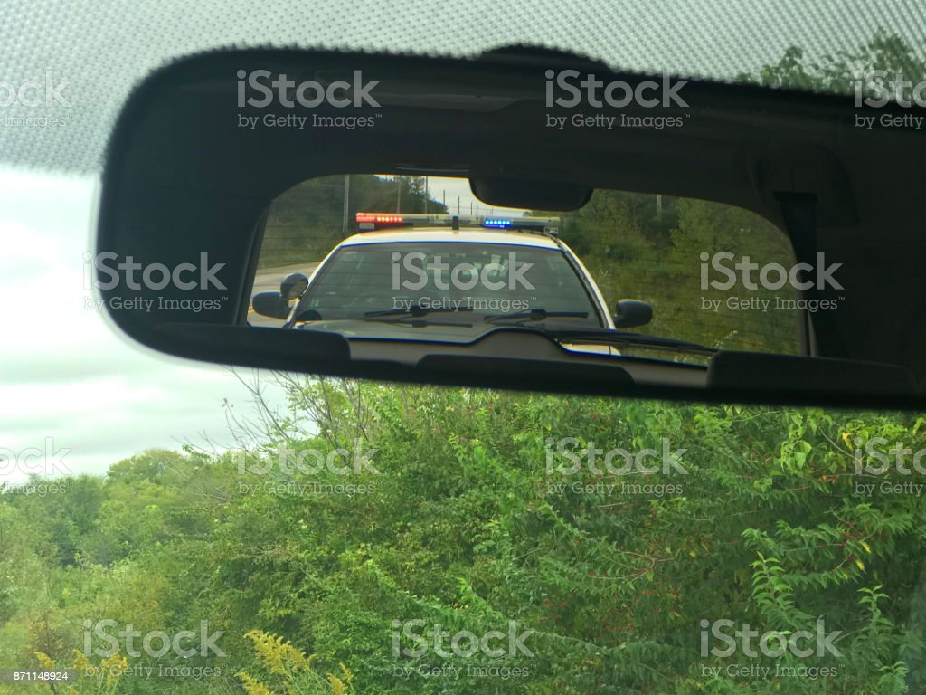 Pulled over by Police - foto stock