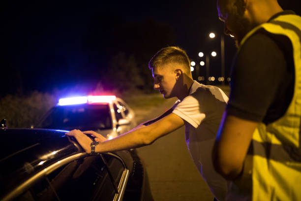 Pulled over by the Police stock photo