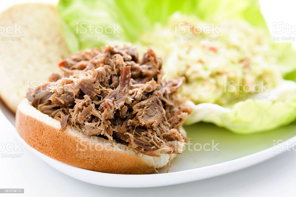 Pulled Pork And Cole Slaw royalty-free stock photo