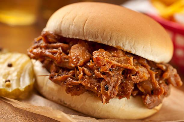 Pulled Pork BBQ stock photo