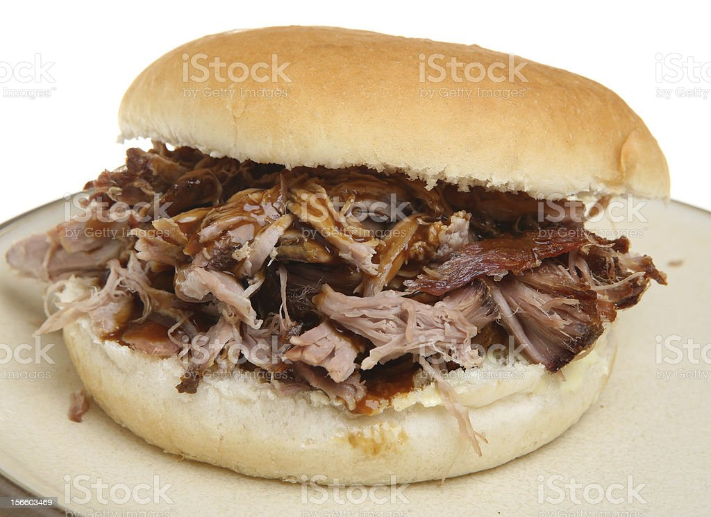 Pulled Pork or Hog Roast Roll stock photo