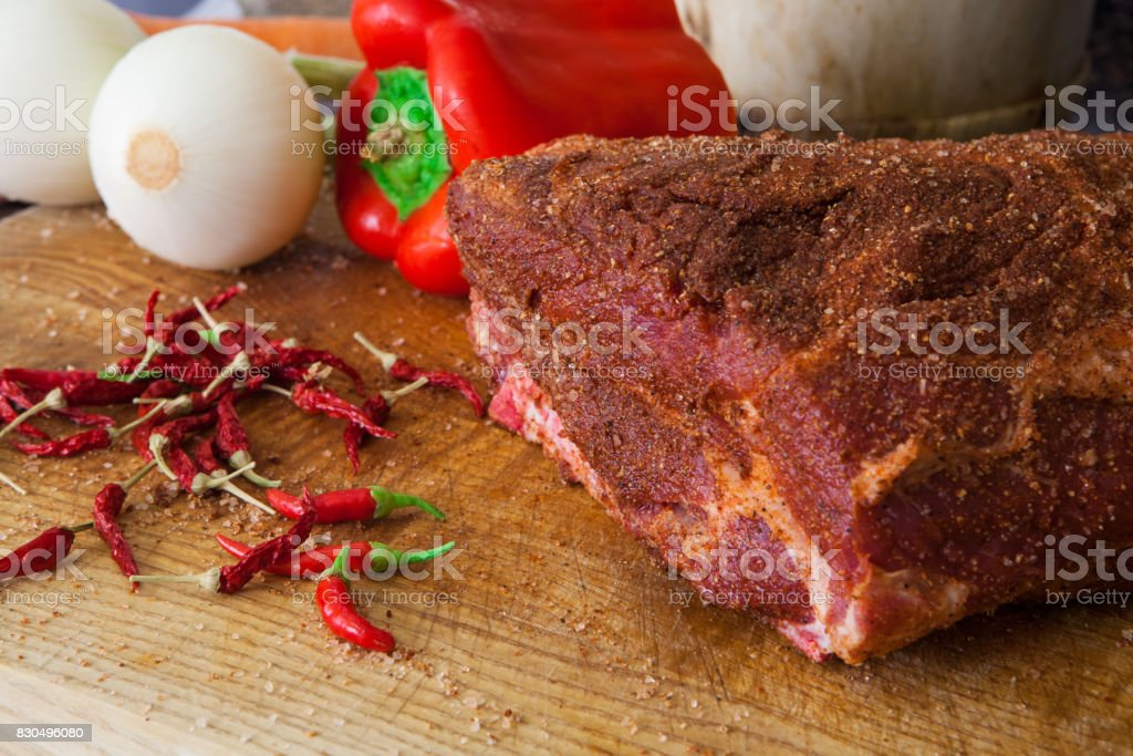 Pulled Pork stock photo