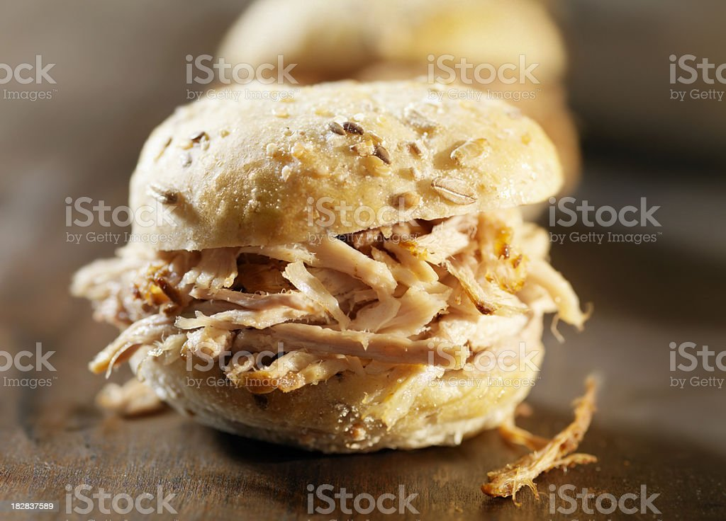 Pulled Pork Sliders royalty-free stock photo