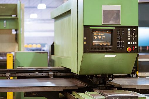 Puller Machine In Metal Industry Stock Photo - Download Image Now