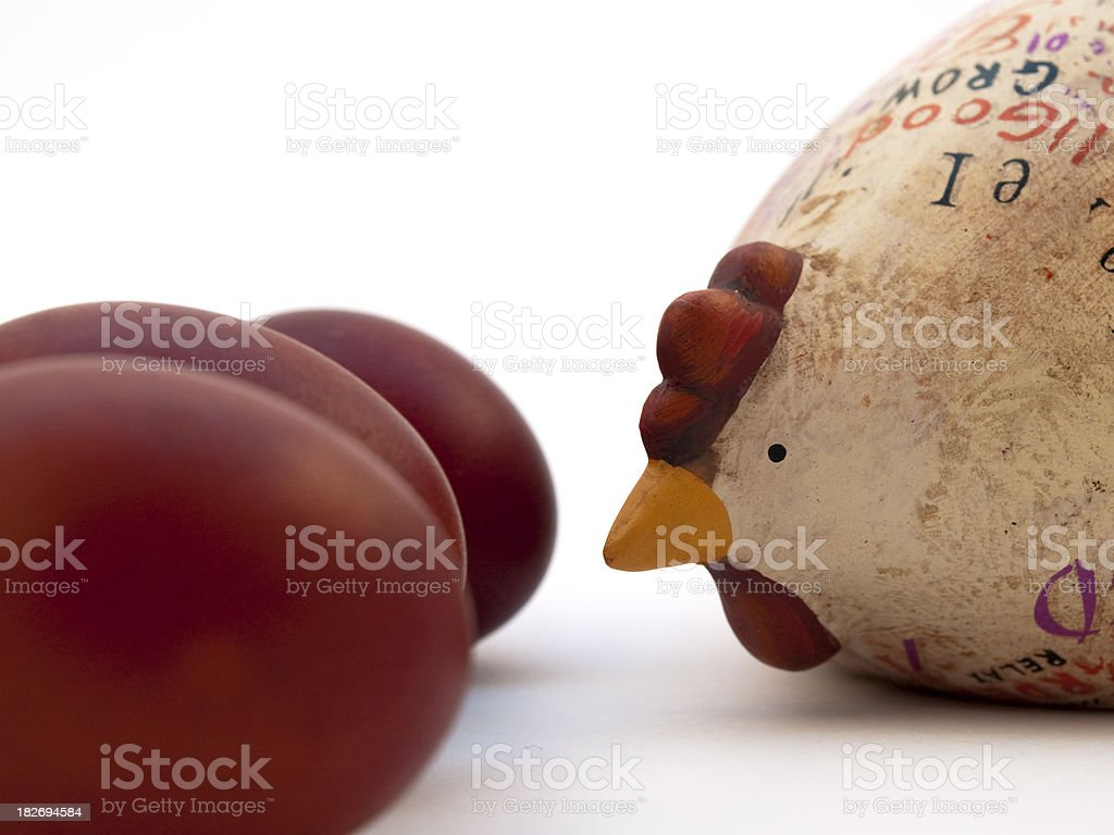 Pullets' eggs royalty-free stock photo